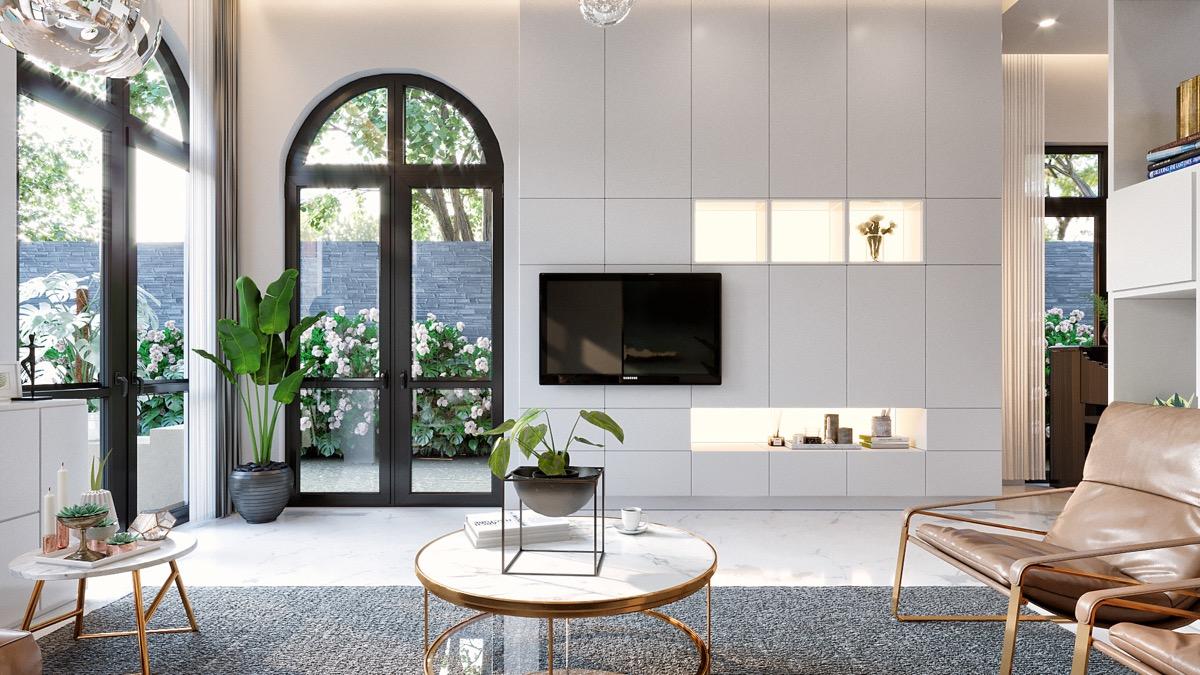 【3dsmax】20个客厅电视背景墙设计
